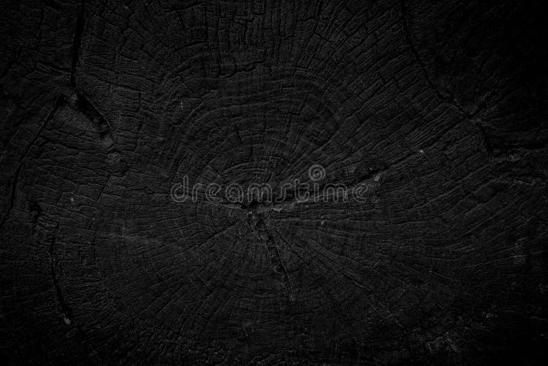 Fond noir en bois photo libre de droits