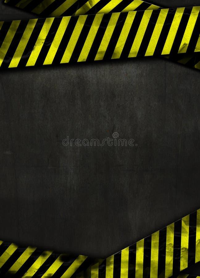 Fond noir et bande jaune photo libre de droits