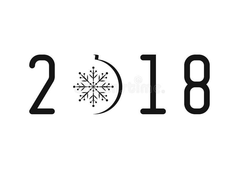 fond 2018 noir et blanc photos stock