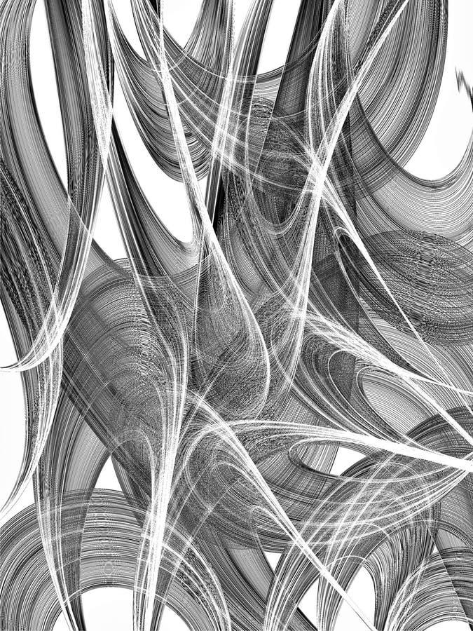 Fond noir et blanc abstrait illustration de vecteur
