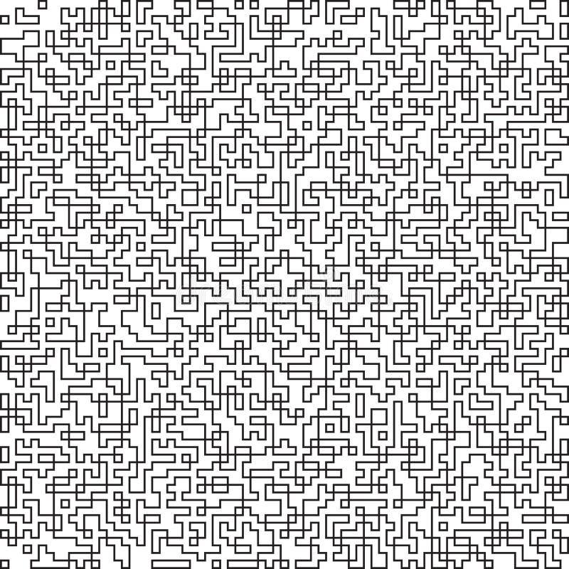 Fond noir et blanc abstrait de technologie Lignes géométriques modèle de formes Conception moderne d'impression de textile illustration libre de droits
