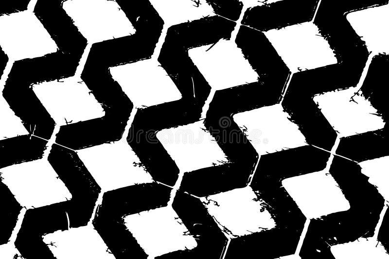 Fond noir et blanc abstrait sous forme de places Fond sous forme de grille illustration libre de droits