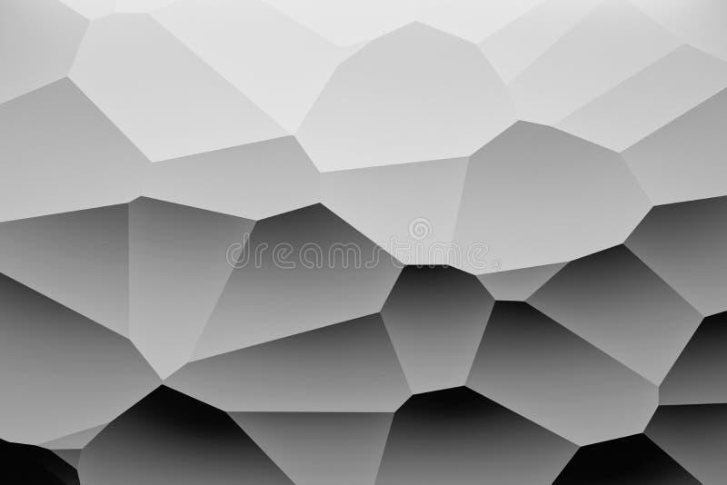 Fond noir et blanc avec de grandes formes géométriques illustration de vecteur