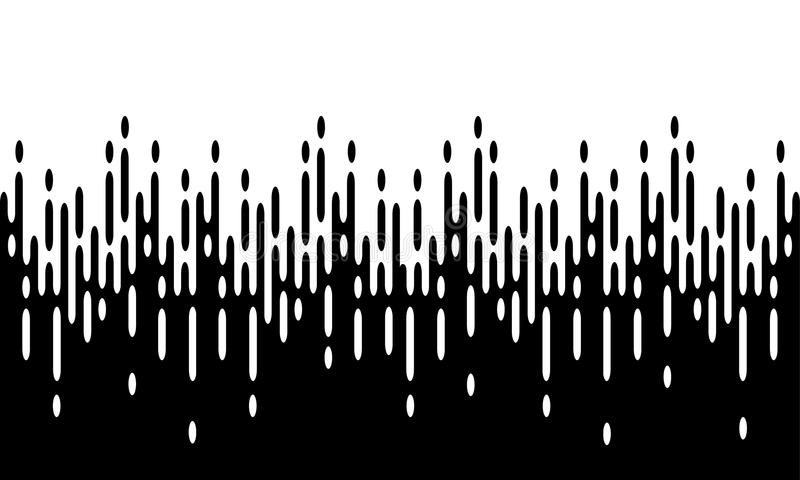 Fond noir et blanc avec la transition tramée illustration de vecteur