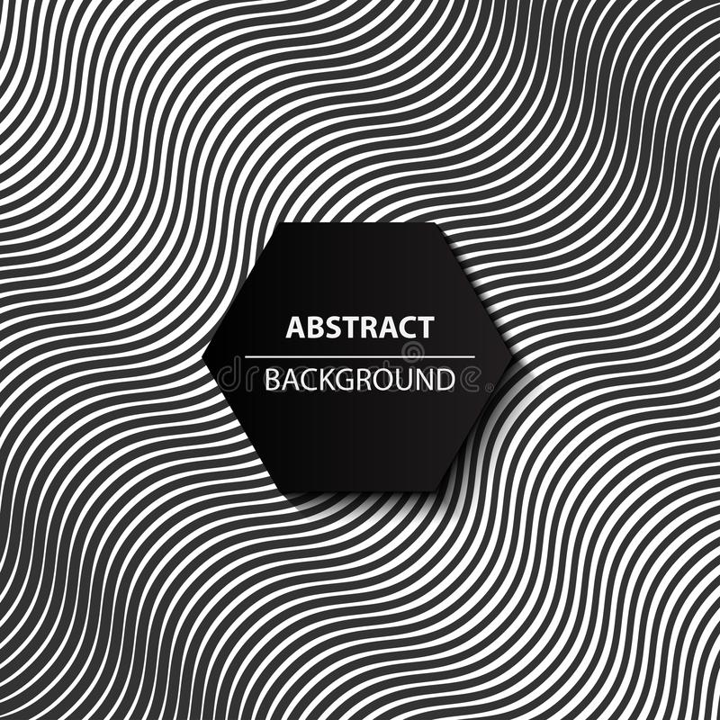 Fond noir et blanc de courbe abstraite, modèle 3d moderne, illustration stock