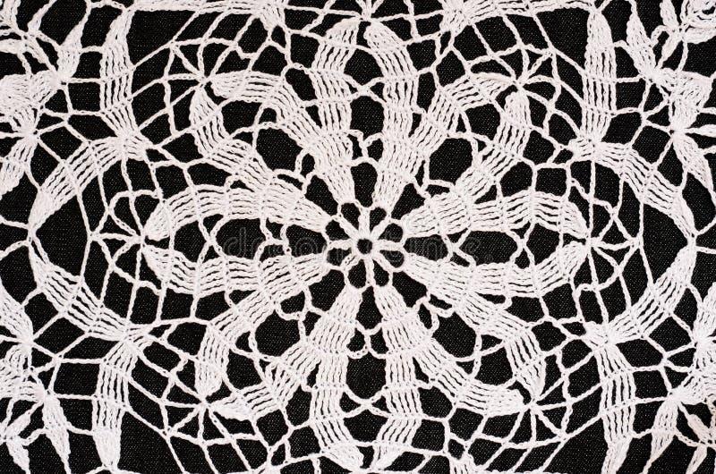 Fond noir et blanc de crochet images libres de droits