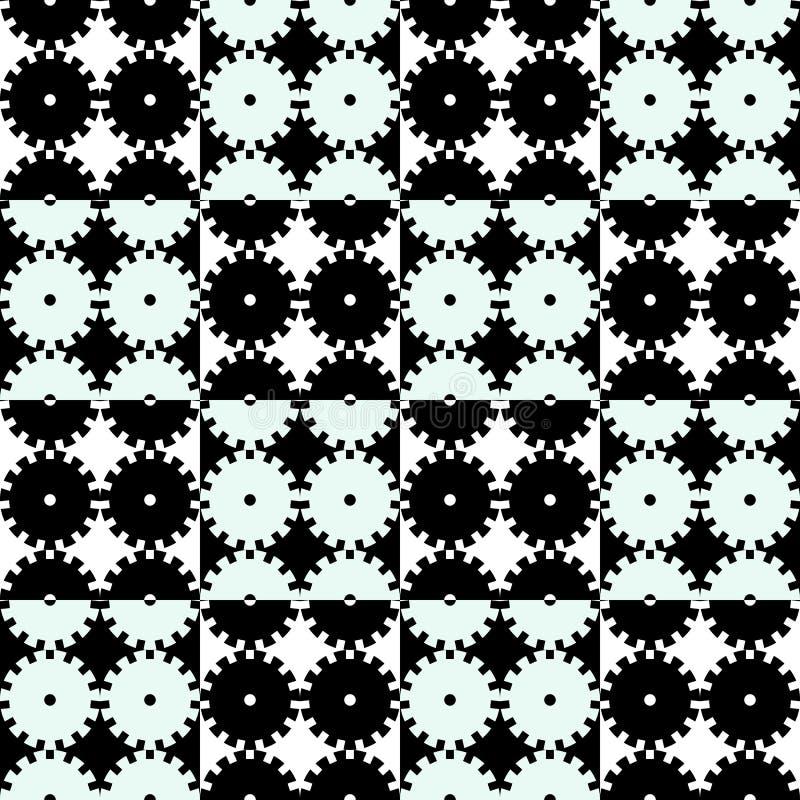 Fond noir et blanc de mécanique sans couture illustration de vecteur