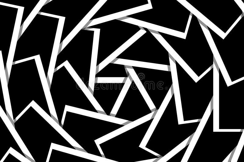 Fond noir et blanc de modèle de spirale de carte illustration de vecteur