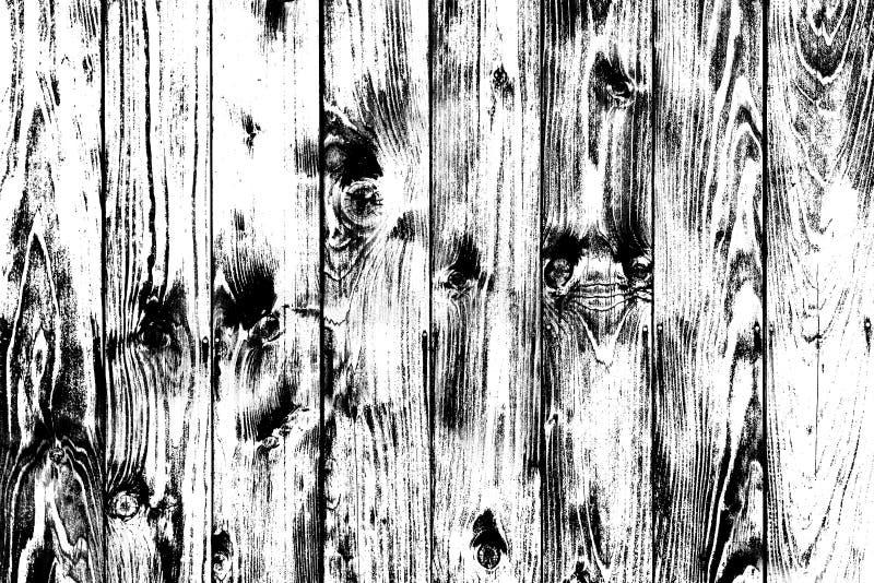 Fond noir et blanc en bois dans le style grunge, fond en bois de texture, surface structurée, contexte naturel avec rien, W illustration stock
