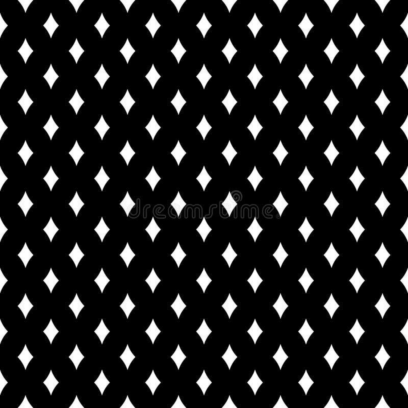 Fond noir et blanc géométrique diagonal floral sans couture décoratif de modèle Compliqué, matériel illustration de vecteur