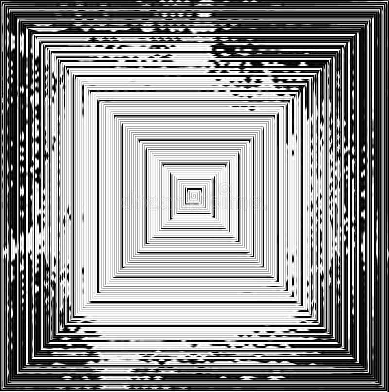 Fond noir et blanc pointillé par résumé Modèle affligé par image tramée Texture grunge de petits points et particules ronds malpr illustration libre de droits