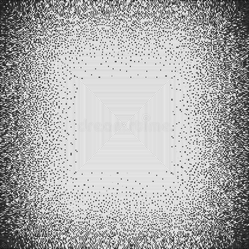 Fond noir et blanc pointillé par résumé Modèle affligé par image tramée Texture grunge de petits points et particules ronds malpr illustration de vecteur