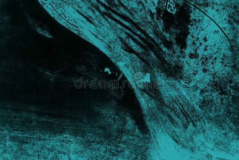 Fond noir et bleu de courses de pinceau photos stock