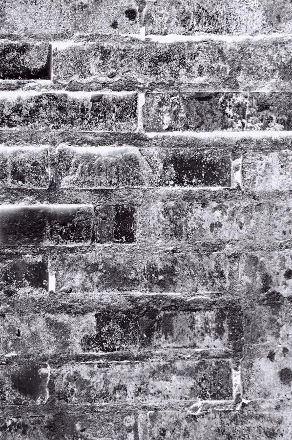 Fond noir et gris de texture de mur de briques image stock Mur de brique gris