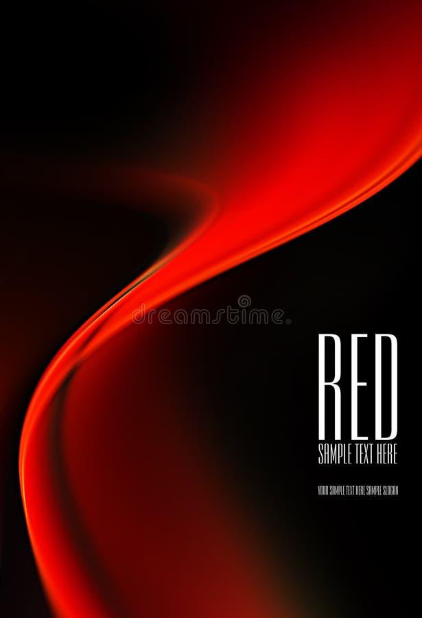 Fond noir et rouge illustration libre de droits