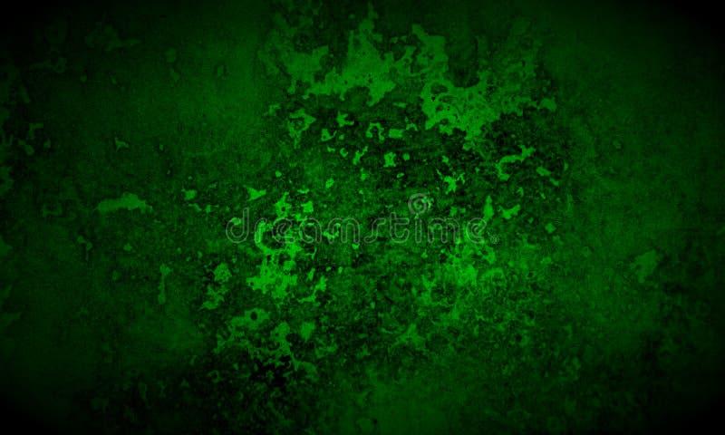 Fond noir et vert-foncé abstrait de texture illustration stock