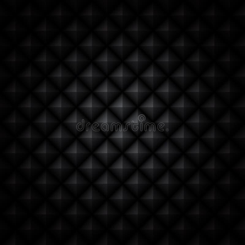Fond noir facetté illustration de vecteur