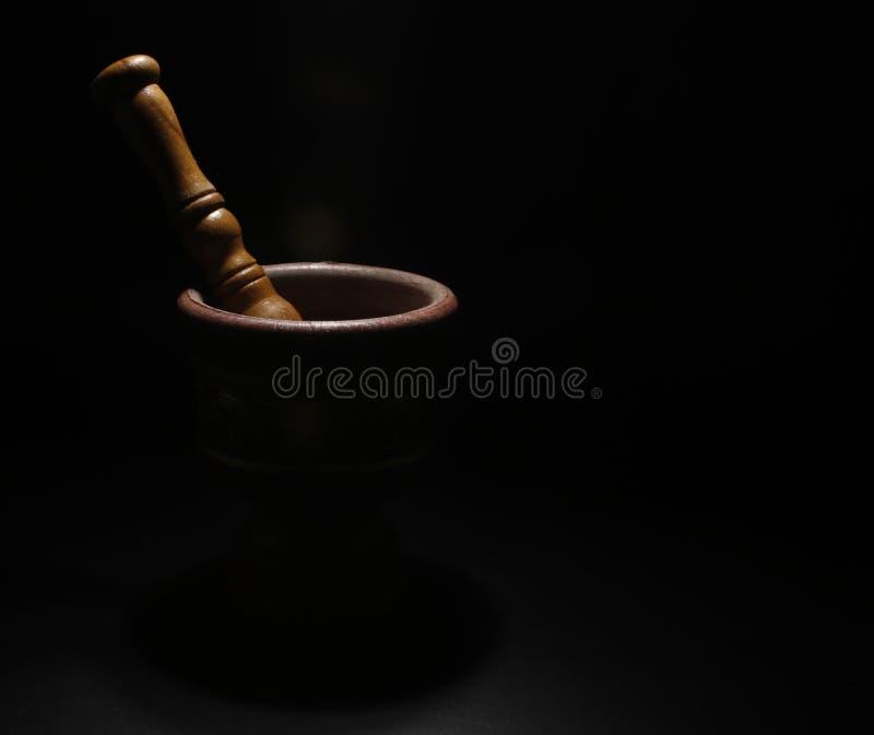 Fond noir mortier image libre de droits