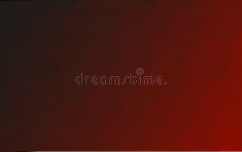 Fond noir rouge de vecteur abstrait de mosaïque de polygone illustration stock