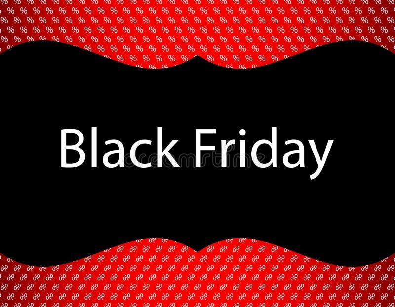 Fond noir spécial de vendredi illustration stock