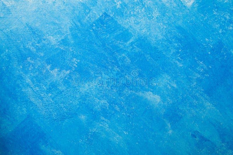 Fond nu de mur de plâtre, papier peint bleu photo stock