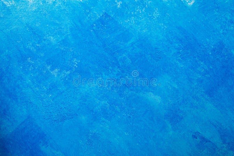 Fond nu de mur de plâtre, papier peint bleu images libres de droits