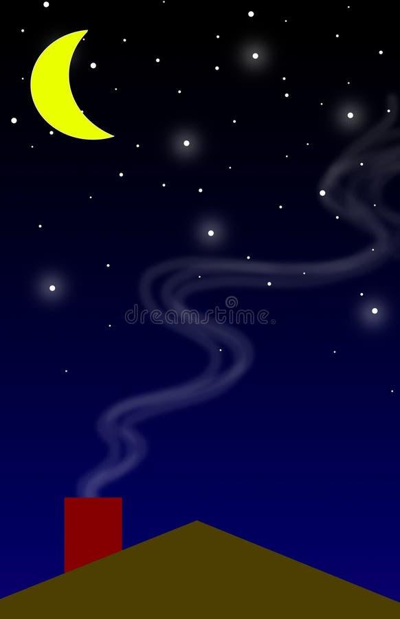 Fond - nuit illustration de vecteur