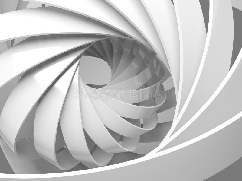 Fond numérique abstrait avec la structure de la spirale 3d illustration de vecteur