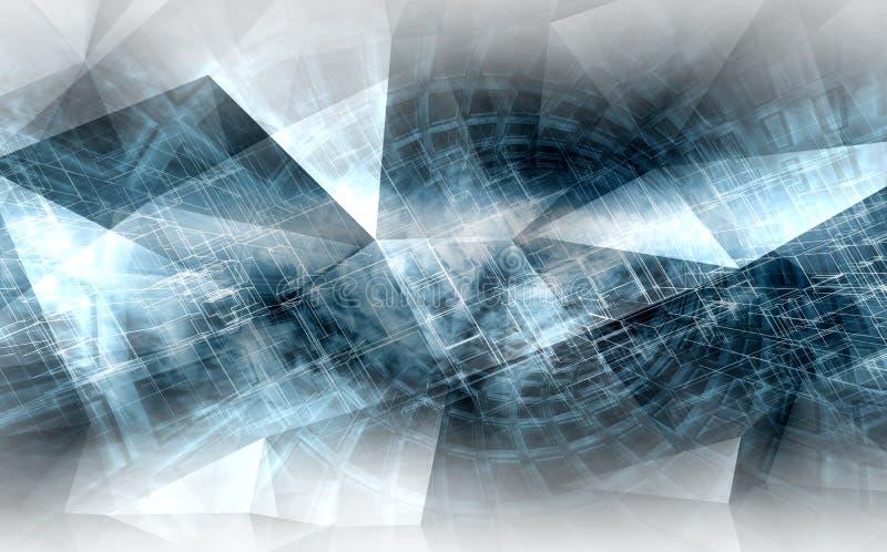 Fond numérique abstrait, concept de pointe de CG. illustration de vecteur