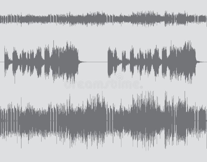 Fond numérique abstrait d'onde sonore illustration libre de droits