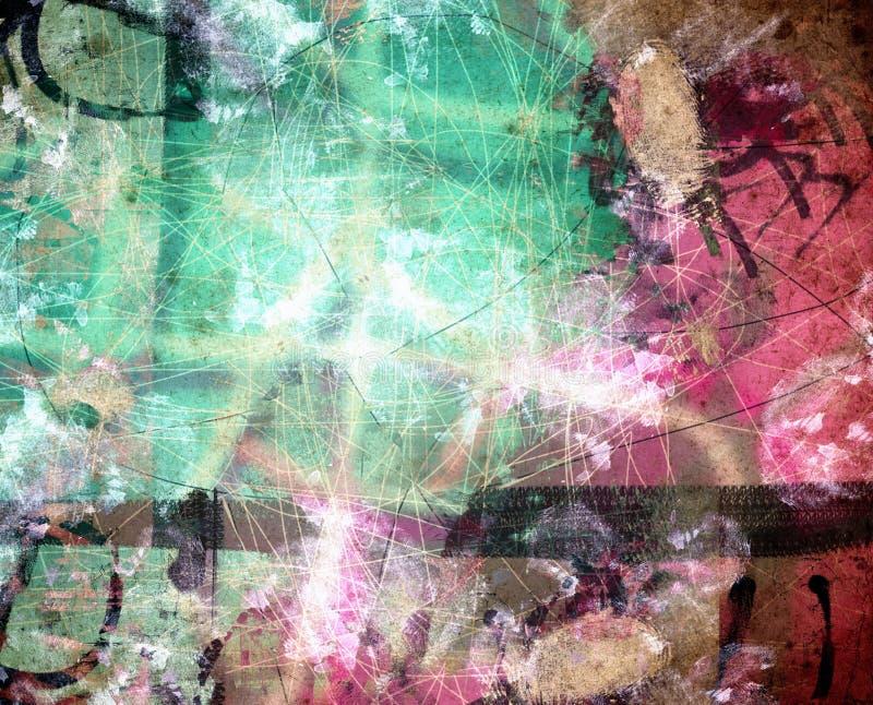 Fond numérique abstrait texturisé grunge illustration stock