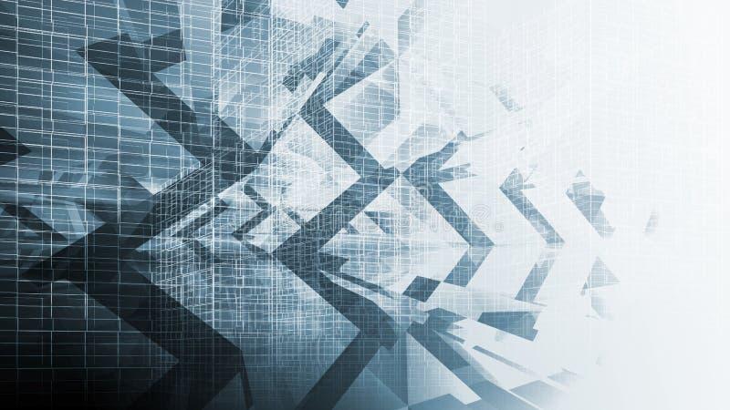 Fond numérique bleu abstrait, de pointe illustration de vecteur