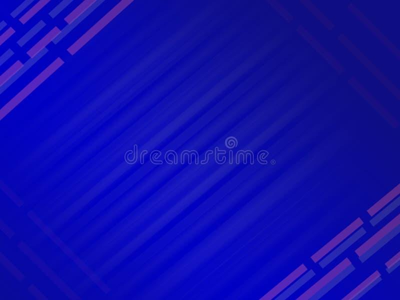 Fond numérique de calibre de lignes droites bleues abstraites modernes illustration de vecteur