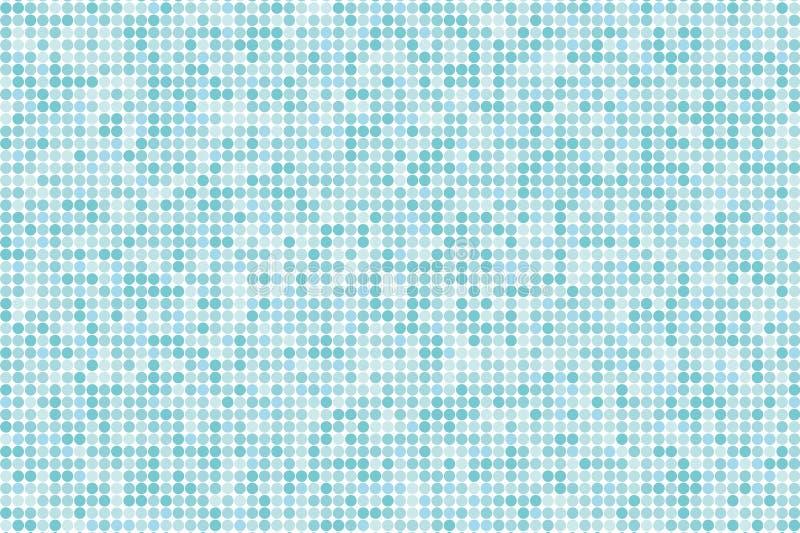 Fond numérique de gradient de pixel Modèle bleu-clair abstrait de technologie Le fond pointillé avec des cercles, points, dirigen illustration de vecteur