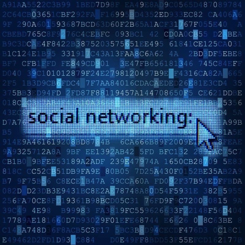 Fond numérique de media de mise en réseau sociale images stock