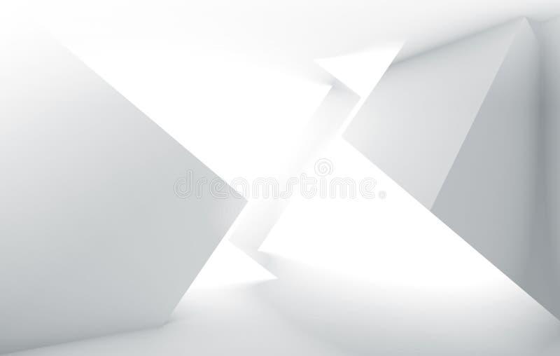 Fond numérique de pointe blanc abstrait illustration stock