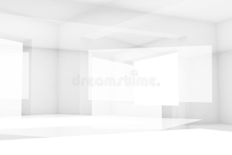 Fond numérique de pointe blanc abstrait 3 d illustration de vecteur