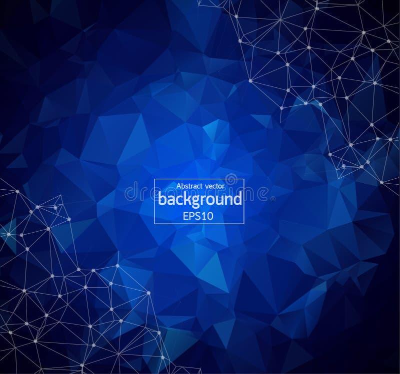 Fond numérique linéaire polygonal abstrait de concept de technologie de modèle de texture illustration stock