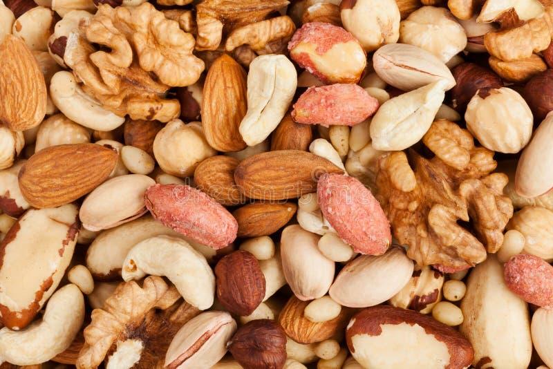 Fond nuts mélangé images stock