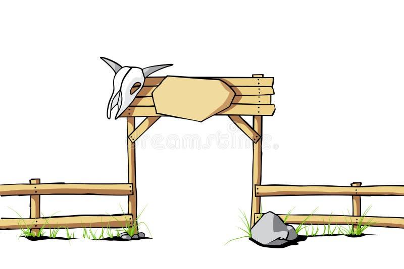 Fond occidental illustration stock