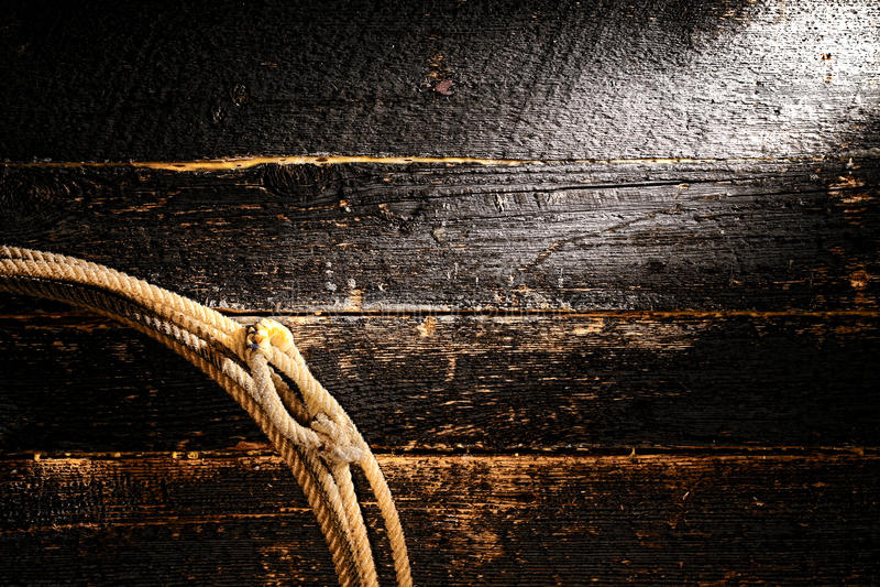 Fond occidental américain de lasso de lasso de cowboy de rodéo photographie stock