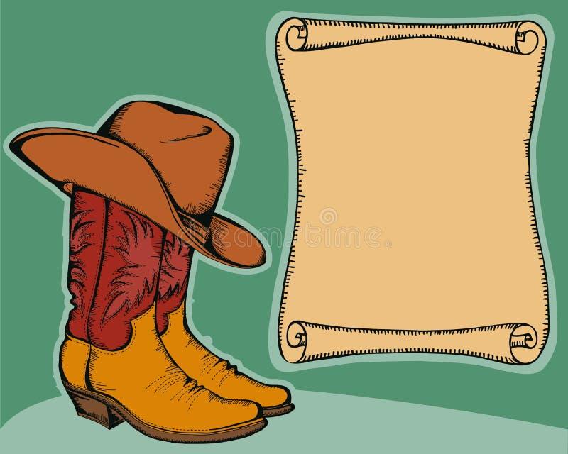 Fond occidental avec des gaines de cowboy   illustration libre de droits