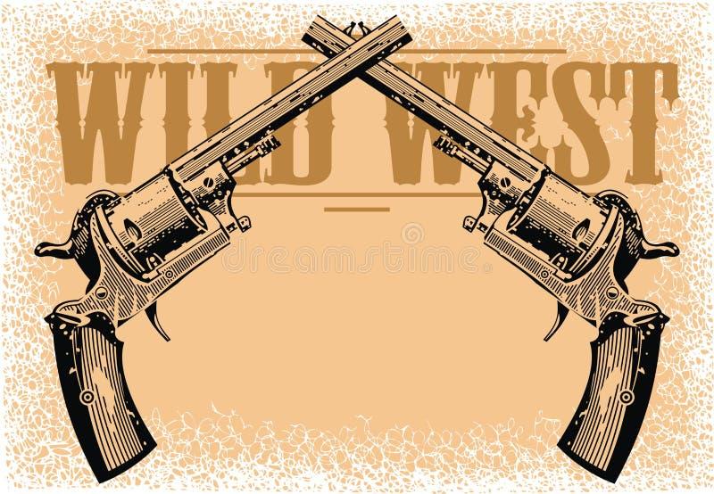 Fond occidental sauvage illustration libre de droits