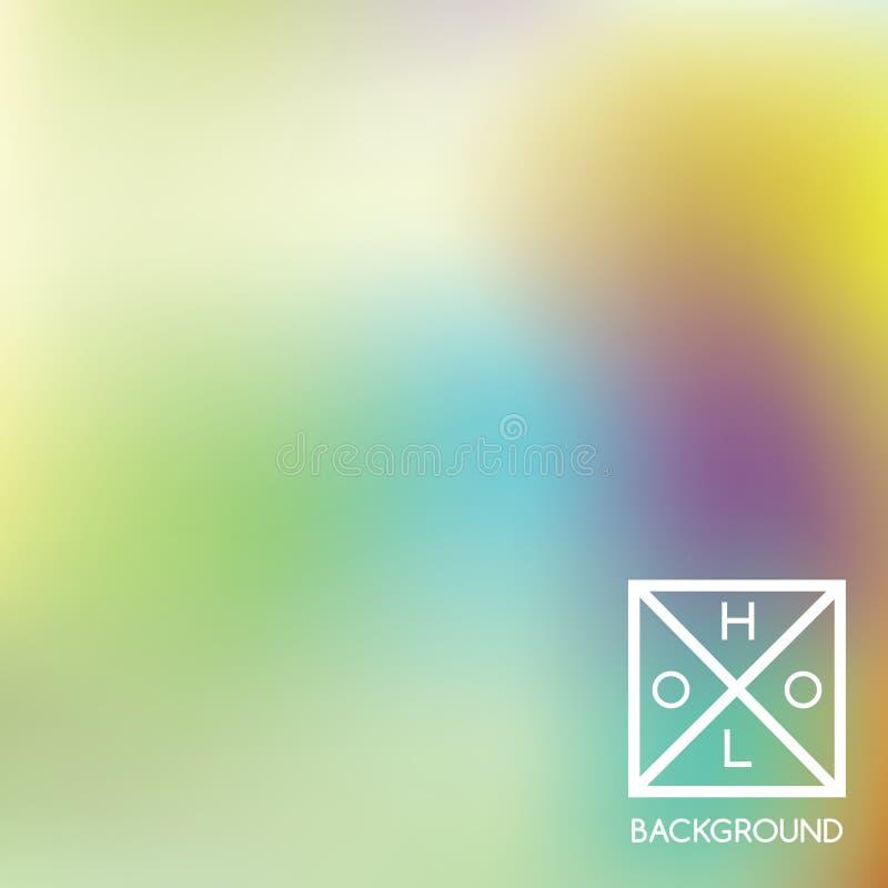 Fond olographe Couverture scintillante de Holo Contexte mou abstrait de couleurs en pastel illustration libre de droits