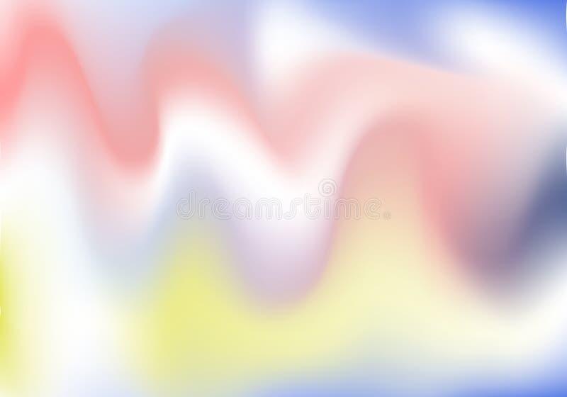 Fond olographe Couverture scintillante de Holo Contexte mou abstrait de couleurs en pastel Gradient cosmique de vecteur créatif à illustration libre de droits