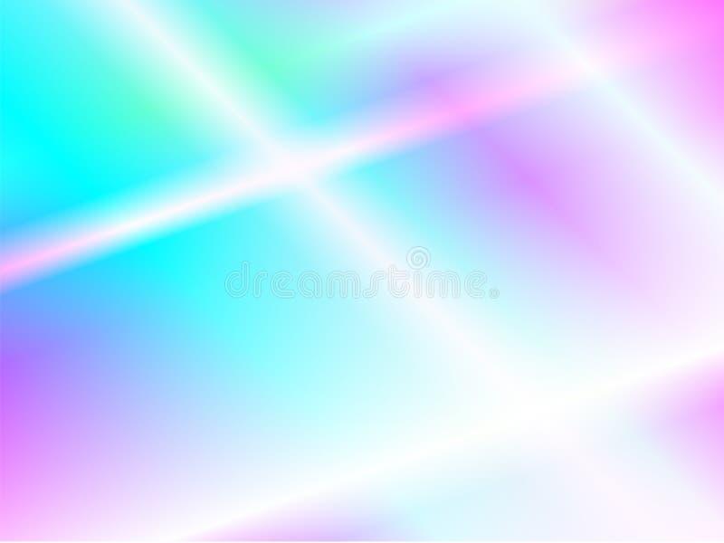 Fond olographe d'aluminium Texture de papier iridescente Contexte d'arc-en-ciel illustration libre de droits