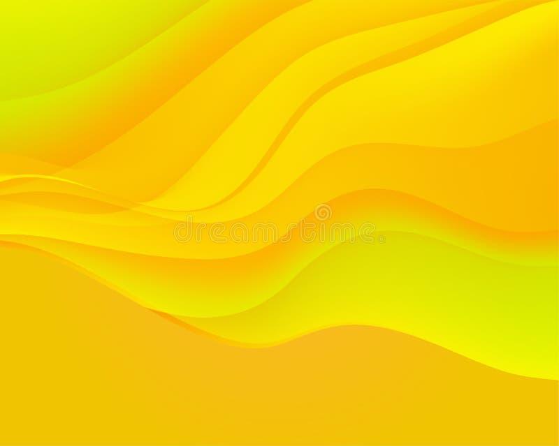 Fond ondulé abstrait Surface colorée de gradient de lueur pour la conception illustration de vecteur