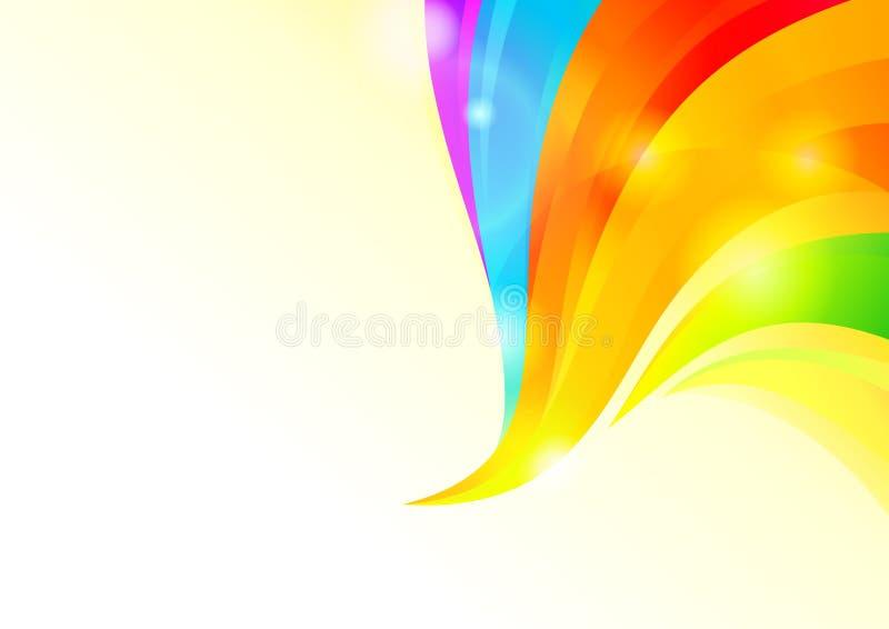 Fond ondulé coloré illustration de vecteur
