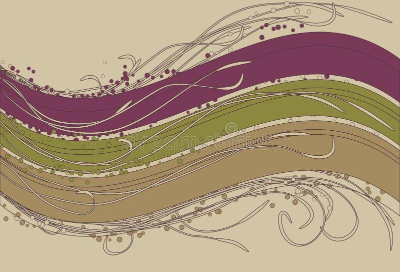 Fond ondulé de flourish illustration de vecteur