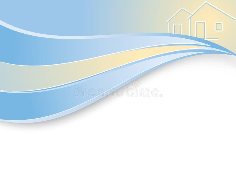 Fond ondulé de société d'investissement immobilier illustration de vecteur